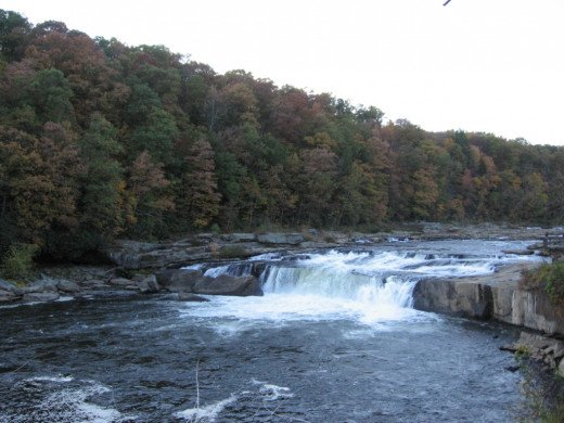 Located right off of  Main street, the 20-foot high Ohiopyle Falls spans the Yough river.