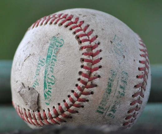 A well-used baseball.