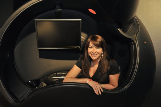 Suzi Perry inside Ovei on Channel 5's Gadget Show where Ovei was voted No. 1 product.