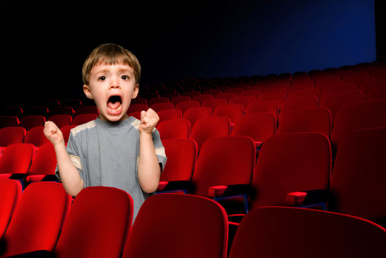 Image result for movie theater with people