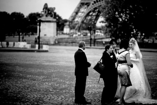 Wedding At The Foot Of The Eiffel Tower