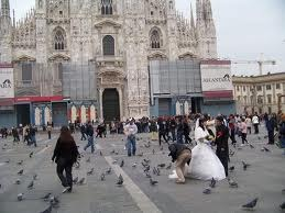 Wedding In Front Of Cathedral, Italy