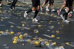 Berlin Marathon 2011. Disposed plastic cups
