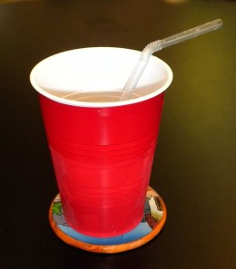 Red Plastic cup.