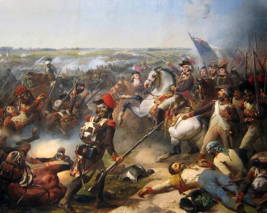 Battle of Fleurus, June 26, 1794, French troops led by Jourdan beat back the Austrian army