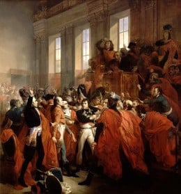 Napoleon Bonaparte seizing control of France