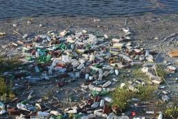 Bottle dump floating garbage