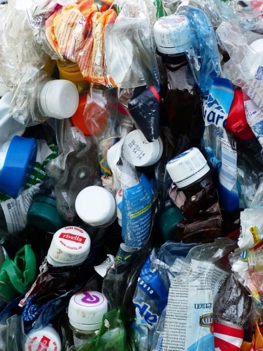 Disposable plastic bottles