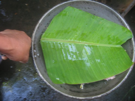 With Banana leaf as cover (Photo Source: Ireno Alcala)