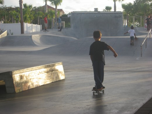 Tristan at the skate park