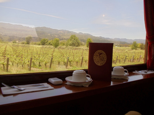The Napa Wine Train is one of the most popular means to enjoy Napa-based wine events.  It is accessible by BART (a commuter train with on site parking) out of Martinez, a town in the next county of Alameda County.