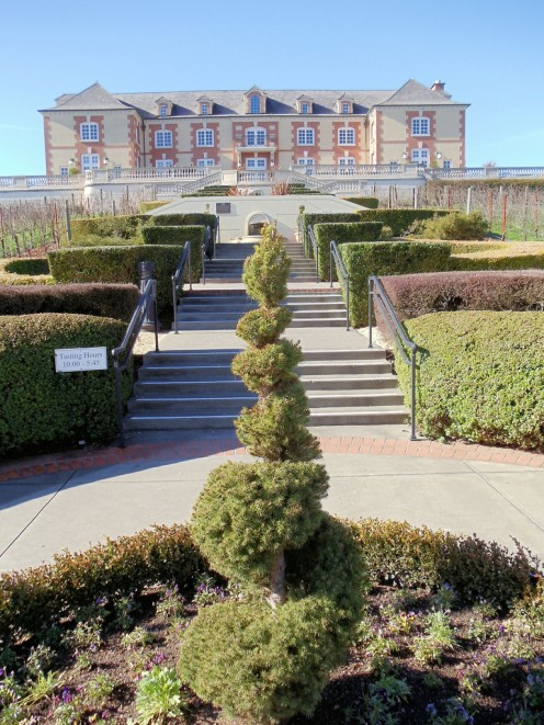 At Domaine Carneros Vineyards & Winery in Sonoma County.