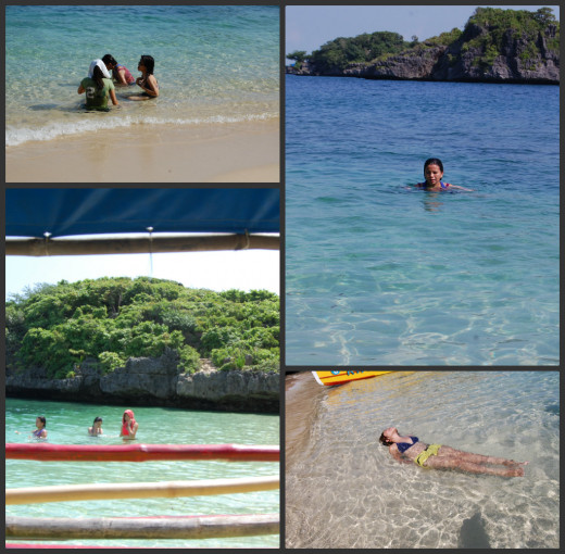 All four photos were taken at the Marcos Island beach