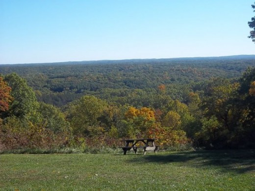 A view from one of the vistas in Brown County State Park
