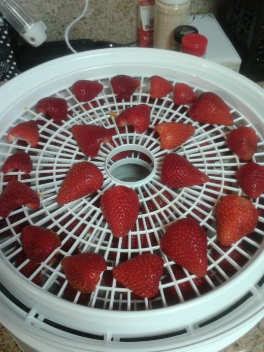One tray of HUGE strawberry halves