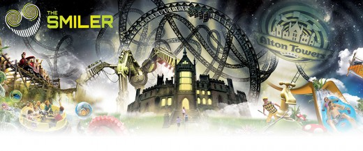 "Latest Alton Towers Resort Ride ""THE SMILER"""