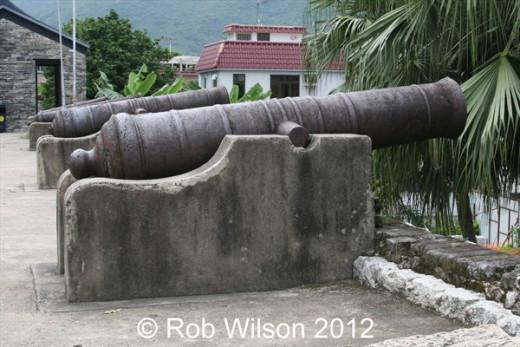 Tung Chung fort in Tung Chung, on Lantau Island, Hong Kong.