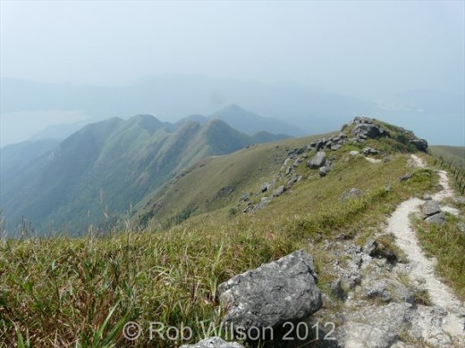 View from Lantau Peak, near Tung Chung, on Lantau Island, Hong Kong.