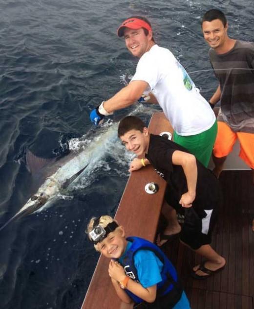 Will's blue marlin catch