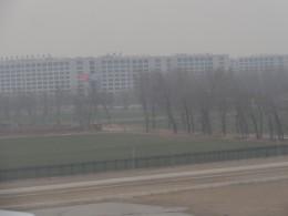 Landing in smog in Beijing China