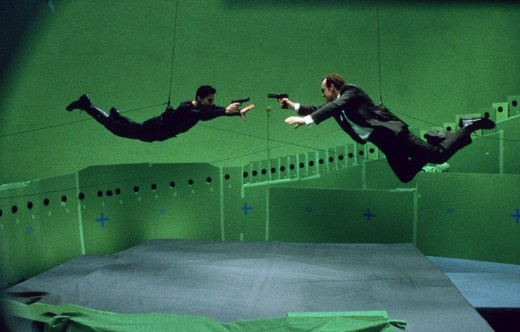 "A production still from the popular film, ""The Matrix"""