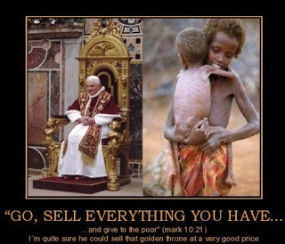 Almost all organized religious bodies speak about helping the poor, but that is where it ends and more is spent on proselytizing than on genuine human needs, contrary to the lessons of great spiritual teachers and prophets.