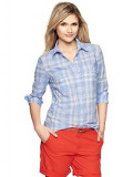 Womans' Plaid shirt add a sweater, jeans or skirt,  the versatile shirt for campus.