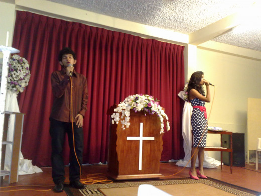 Our talents are meant to glorify God. My Tribute sung by my sis and one of the brothers :)