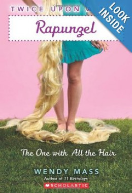 Twice Upon a Time #1: Rapunzel, The One With All the Hair by Wendy Mass. This is the paperback edition