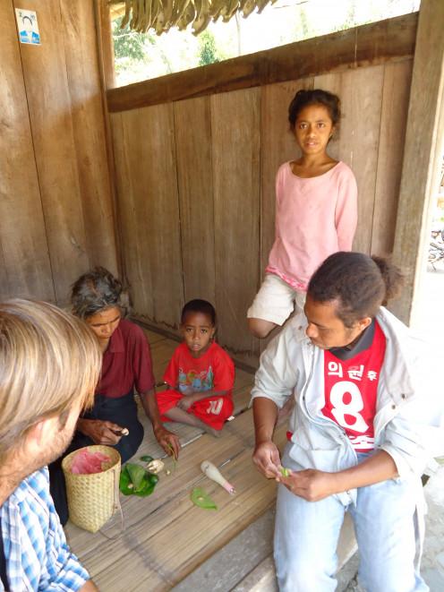 Preparing Betal Nut at a Ngada village near Bajawa, Flores