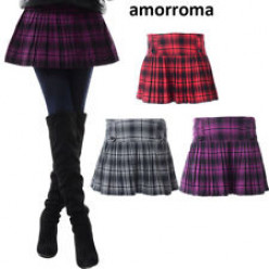 Woolen checked pleated skirt  $16.99