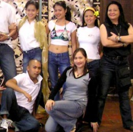 Ms. Daisy extreme right standing while I'm kneeling (extreme right). Photo taken during a workshop: Being in Marketing