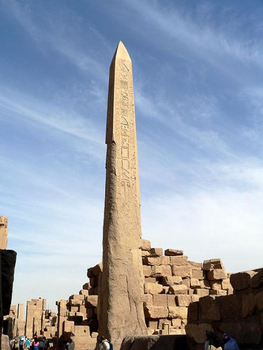 Obelisk standing in Karnak Thebes today