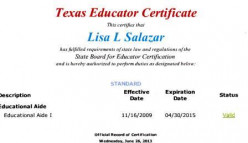 Former Board President held an Educational Aide I certification for almost 4 years.