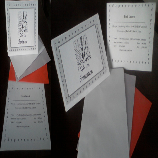 Envelopes- White with purity, Purple with royalty and Red with love :)