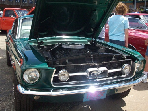 A 1968 Mustang GT 390 replica