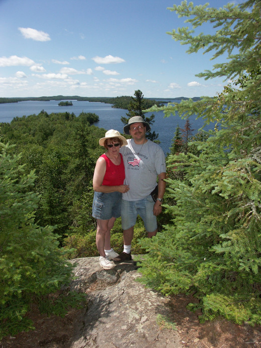 My wife and I in the BWCAW