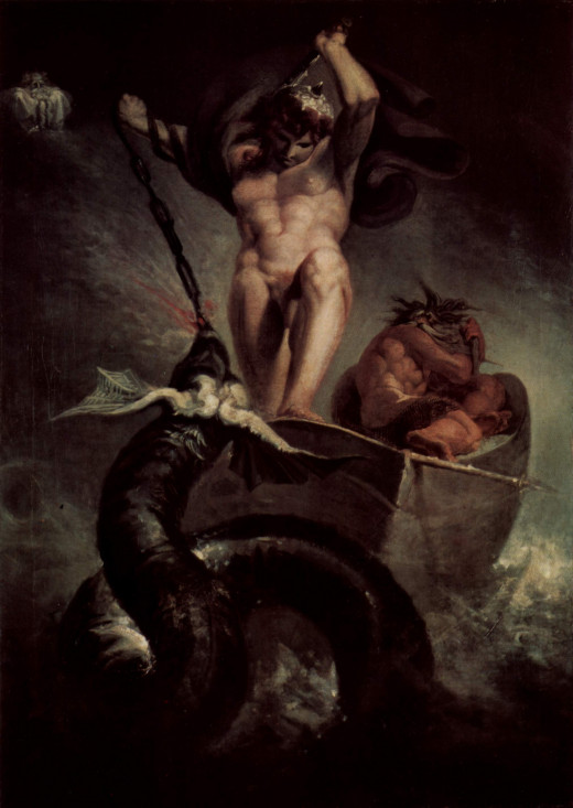 Thor battling the Midgard Serpent, Henry Fuseli (1788)