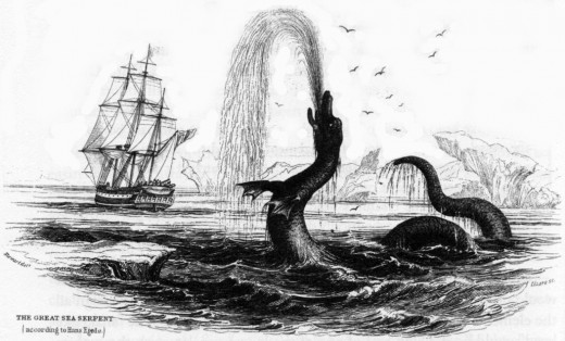 The Great Sea Serpent, Hans Egede (1734)