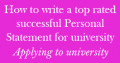 Example on how to write a personal statement for medicine, physiotherapy, osteopathy or chiropractic for university