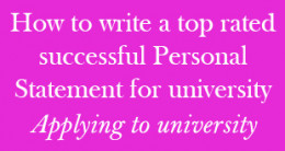 How to write a top rated successful personal statement