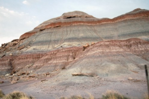 The painted desert, on my road trip with my mom