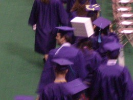 Graduates entering auditorium at Northern Arizona University