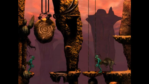 Some sections also required you travel on an Elum. Kind of Oddworld's equivalent of a horse.