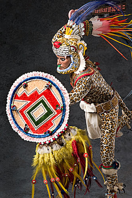 Figure of an Aztec Leopard Warrior, by artist/historian George S. Stuart