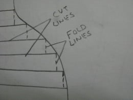 How to make paper curve?