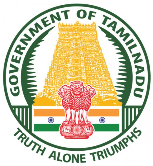 Seal or  the State Emblem of Government of Tamil Nadu