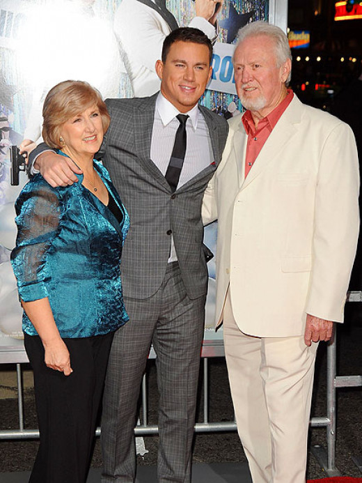 Channing with his parents...
