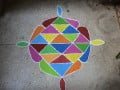 Traditional Indian Art, Colourful Indian Rangoli : How to draw Rangoli  and it's significance !