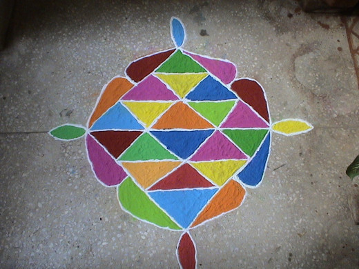 RANGOLIS made with colored sand